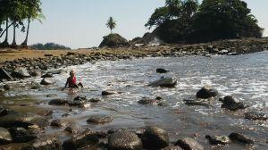 Chilling at Playa Dominicalito