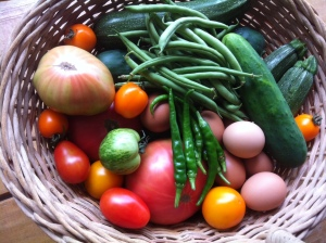 Fresh produce from our homestead